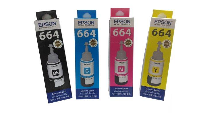 (含稅)EPSON原廠墨水T6641黑/T6642藍/T6643紅/T6644黃(原廠連續供墨專用填充墨水)③
