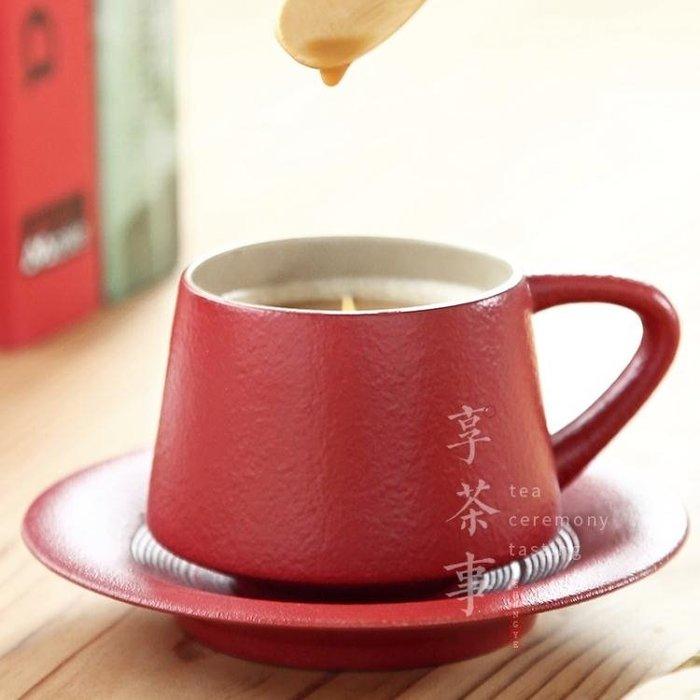 創意馬克杯 帶勺簡約復古個性隨手杯 陶瓷咖啡杯套裝