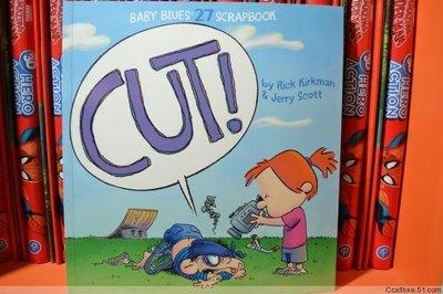 128頁英文原版兒童漫畫書 Cut!: Baby Blues Scrapbook 15美金 薦