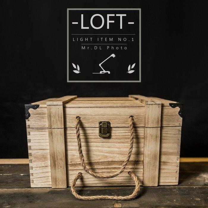 滿690免運 推薦款【Mr.DL】LOFT北歐-大型可提式木盒 咖啡廳美式店展示收納 化妝包 工業風 開店生財 交換禮物