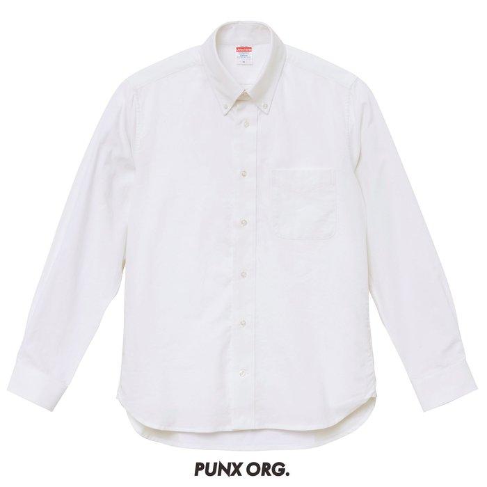 【 PUNX 】UNITED ATHLE UA  SHIRT 牛津扣領長袖襯衫