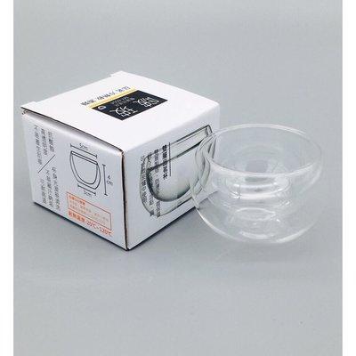 【洪哥生活百貨】啵玻 雙層玻璃杯 1入 50ml 雙層品茗杯 玻璃杯 隔熱杯 茶杯 咖啡杯 酒杯 雙層杯 耐熱玻璃杯