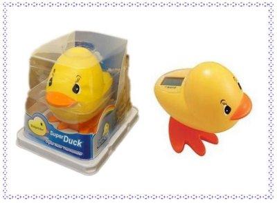 【寶寶王國】 Super Duck 黃色小鴨液晶螢幕電子水溫計 可當洗澡玩具 新手爸媽必備