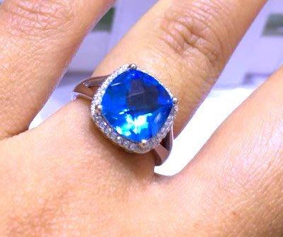 ((瑪奇亞朵的珠寶世界))超美豪華超大顆 天然方型A級拓帕石 黃水晶紫水晶鑲崁 戒子 送禮好用大器 精緻