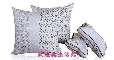 【凱迪豬生活館】淇淇汽車用品 純棉灰色汽車枕頭靠枕四件套 車用靠墊枕靠套裝KTZ-200872