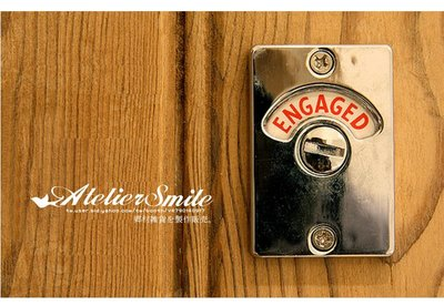 [ Atelier Smile ]  鄉村雜貨 日本直送 進口 門閂 插銷 旋轉門鎖  指示鎖 裝飾鎖 (現+預)