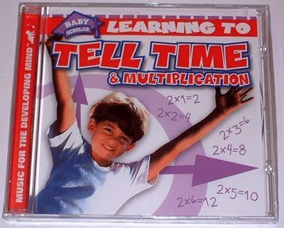【英語認知歌謠CD】小pen外文童書c52~Tell Time & Multiplication《時間+乘法》(特價再8折)