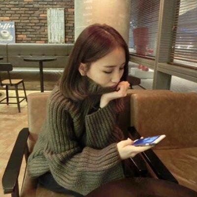 =EF依芙=韓國首爾 時尚精品 東大門同步 茵蔓 8273 新款 韓版時尚寬鬆套頭長袖高領毛衣女裝