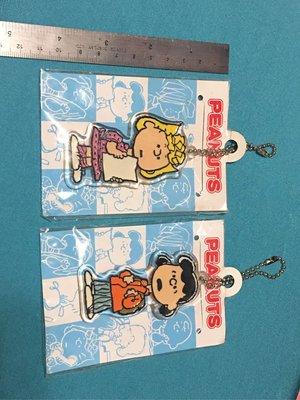 全新 Peanuts Comics Lucy & Sally 掛飾 兩個(實物如圖)