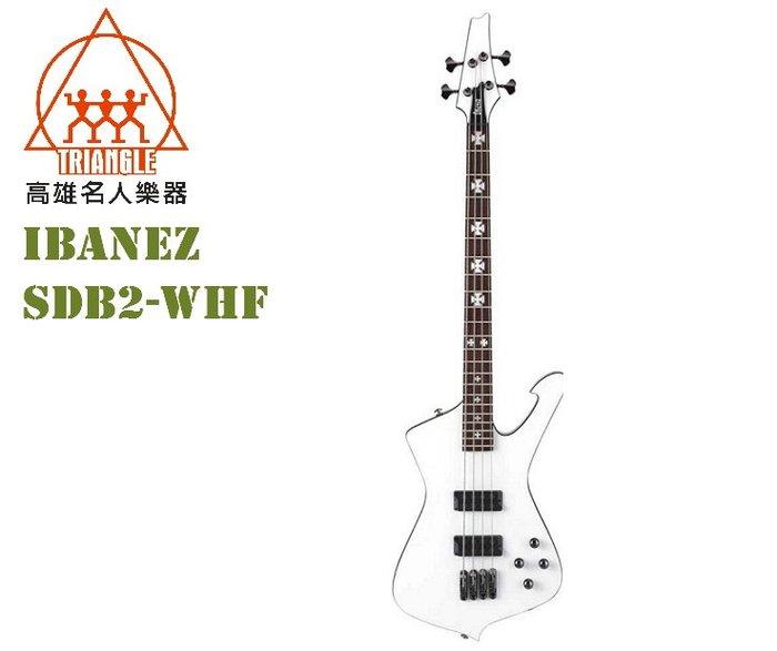 【名人樂器】IBANEZ SDB2-WHF 簽名 電貝斯 Bass SDB2