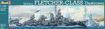 Revell 1/144 US Navy Fletcher Class Destroyer 驅逐艦 (05091)