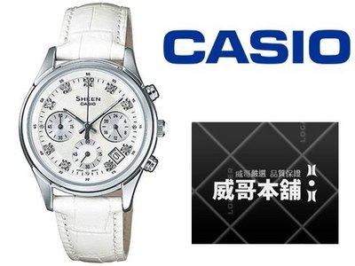 【威哥本舖】Casio台灣原廠公司貨 SHE-5023L-7A Sheen系列 施華洛世奇鑽 SHE-5023L