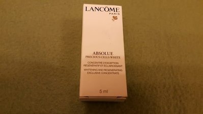 Lancome Absolue Whitening and Regenerating Concentrate 1盒