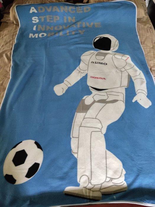 ~櫻花雨~日本帶回 HONDA ASIMO 機器人單人 薄毛毯  超稀有 HONDA MOTOR