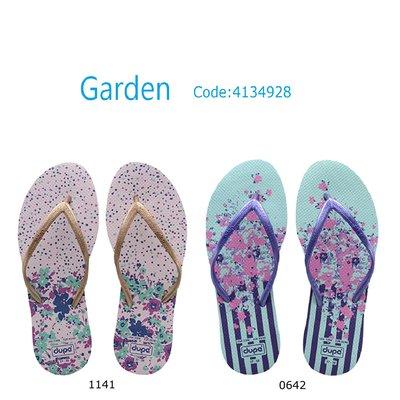 女拖鞋 dupe' Garden 系列 巴西橡膠人字拖/夾腳拖鞋