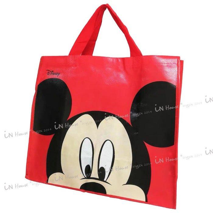 IN House* 義大利 迪士尼 ㊣ Mickey 米老鼠 環保袋 購物袋 搬家 棉被 大容量 收納袋 肩背 手提袋