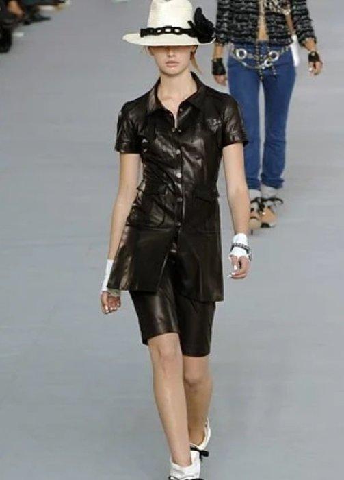[我是寶琪] CHANEL黑色洋裝皮衣外套