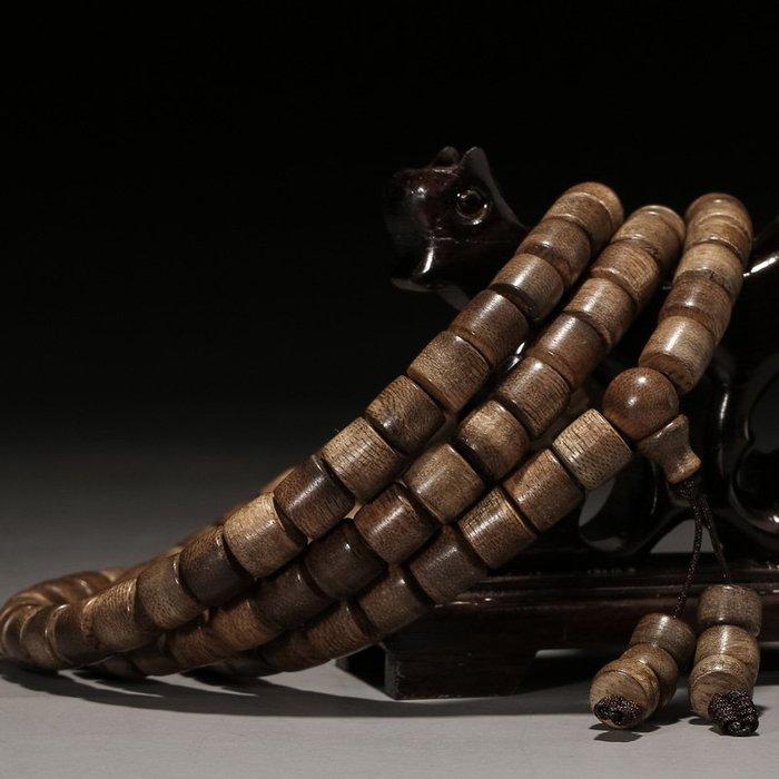 印尼加里曼丹天然沉香手串10mm男女款佛珠手鏈保真沉水級沉香木念珠