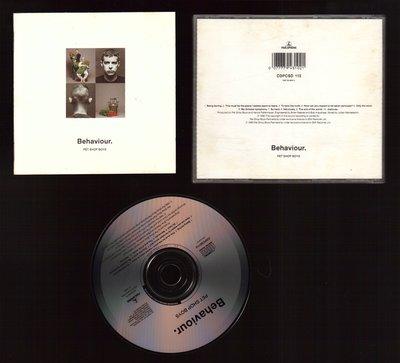 Pet Shop Boys 寵物店男孩 Behaviour專輯 CD. (澳洲盤)