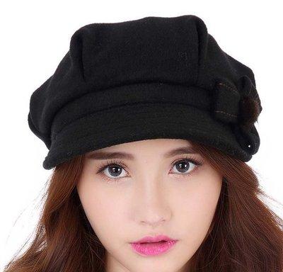 新款時尚貝雷帽子 秋冬季 韓版時尚冬天保暖女款羊毛帽 新款 721