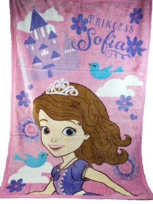 ☆Juicy☆日本 迪士尼 Sofia 蘇菲亞 小公主 毛毯 便攜式空調毯 冷氣毯 被子 毯子 3686
