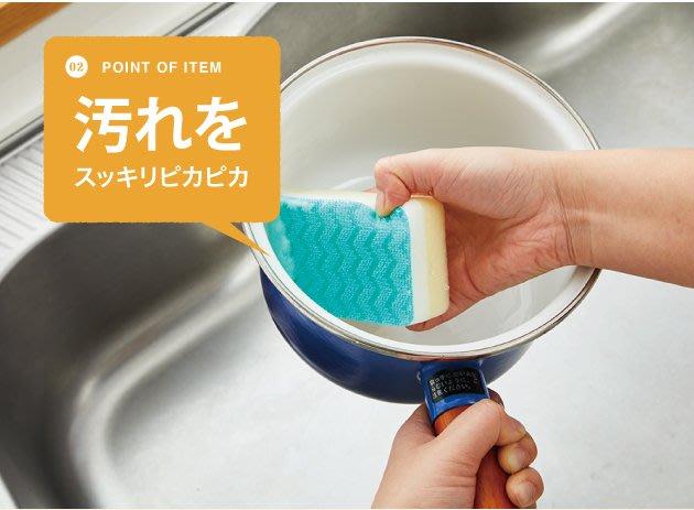 [霜兔小舖]日本代購 日本製 Aisen 廚房 W型海綿 菜瓜布