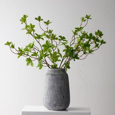 北歐綠色仿真植物枝條長枝 客廳花瓶插花裝飾品 鹽酸草