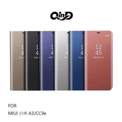 【愛瘋潮】QinD MIUI 小米 A3 / CC9e 透視皮套 鏡面電鍍殼