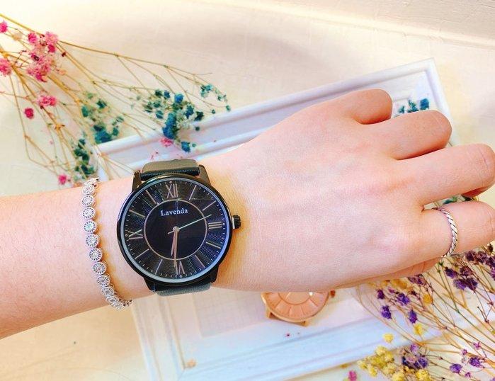 韓國❤️ Lavenda 羅馬 數字 水紋 錶盤 皮質 造型錶 手錶【Verina's韓系美飾】