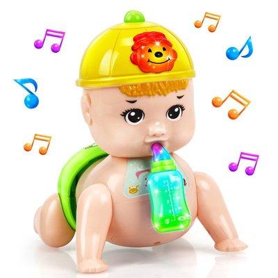 寶寶學爬行玩具電動爬娃娃娃