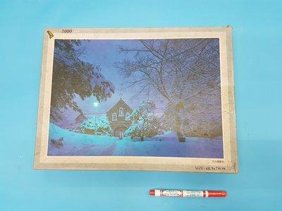 拼圖JIGSAW PUZZLE 1000片拼圖  冬の雪景色  48.5 X 74 cm 庫存品出清,商品如圖,實品拍攝