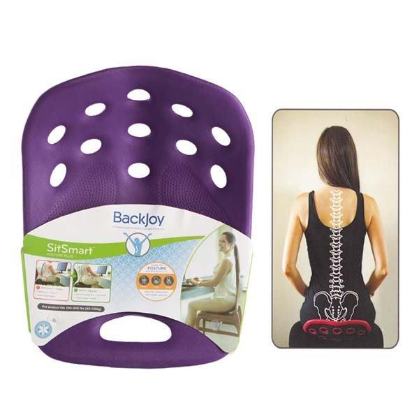 5Cgo【鴿樓】會員有優惠 43669317352 美國正品BackJoy貝樂宜坐墊美姿墊矯正坐姿保護腰椎+護椎背包