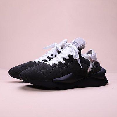 Adidas Y-3 Kaiwa Chunky Sneakers 黑白 麂皮 休閒運動慢跑鞋 男女鞋