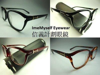 【信義計劃】ImeMyself Eyewear TRUSSARDI TR12536 手工眼鏡 膠框 鏤空框 亞洲版高鼻墊