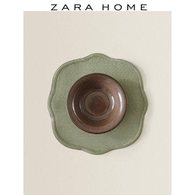 免運 餐墊Zara Home 不規則狀便攜家用塑料綠色簡約隔熱墊餐墊 42274023527