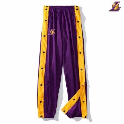 NBA籃球運動長褲 排扣版 熱身服 湖人KOBE JAMES 塞爾提克 公牛 火箭 76人 勇士CURRY 多樣球隊