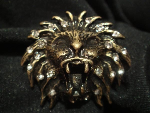 大降價!北歐名牌,全新ARTS CRAFTS A&C 復古金獅頭造形戒指,低價起標無底價!本商品免運費!