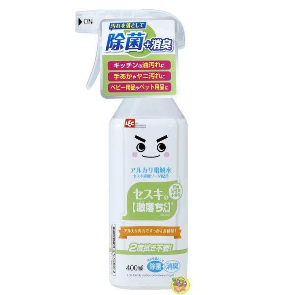 【JPGO】日本製 LEC 激落君 倍半碳酸鈉+電解水 清潔噴霧 400ml #125