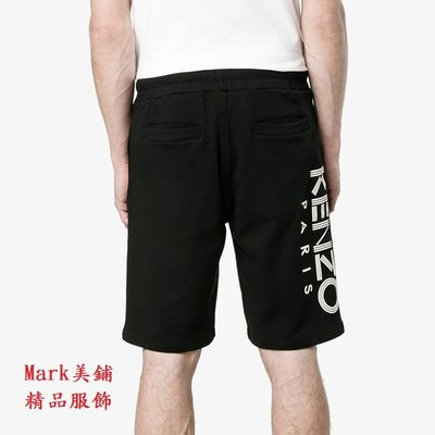 【Mark美鋪】KENZO 字母LOGO  黑色 短褲 棉褲
