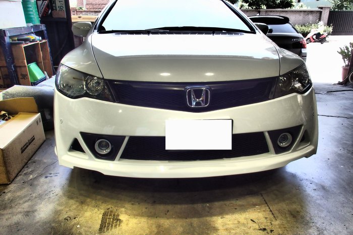DJD19090415 Honda civic 8 K12 RR 前保桿套件
