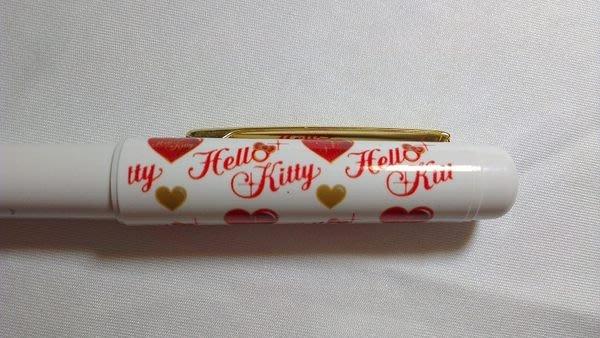 ~FUJIJO~現貨~日本限定販售【HELLO KITTY凱蒂貓】 日本製 愛心健握(紅/黑色)2用原字筆