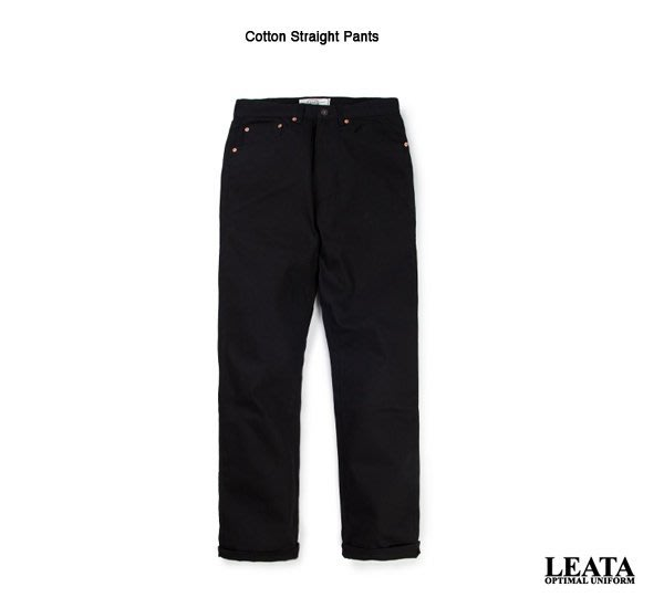 GOODFORIT / 韓國LEATA Cotton Straight Pants 中版工作長褲