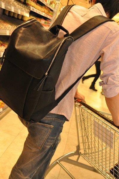Cutie-NewBag韓版雜誌暢銷款【AA0217】 時尚潮男復古後背包可當電腦包