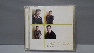 All-4-One On and On合而為一合唱團Keep It Goin' On 原版CD美 有歌詞 歡迎多提問