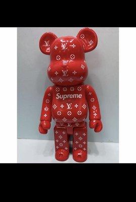 LV x SUPREME 28cm BE@RBRICK(全新未拆封)庫柏力克熊
