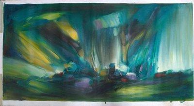 ◎『佳家畫廊』→(有簽名)手繪油畫-抽象山水-藝術畫1◎公司/飯店/民宿/新居/送禮