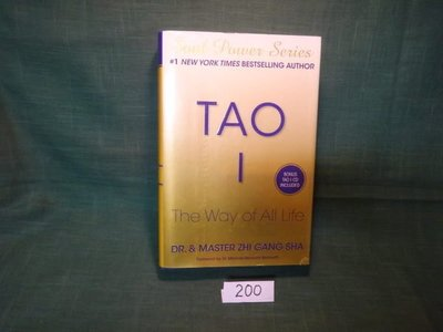 【愛悅二手書坊 03-25】Tao I: The Way of All Life  Zhi Gang Sha著 Atria Books出版