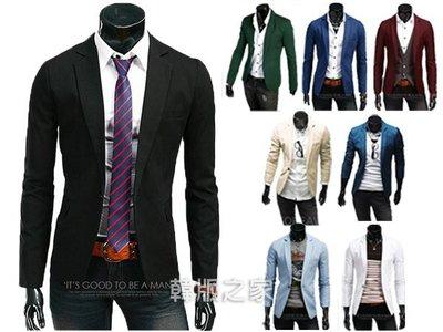 韓版之家男士韓版修身純色小西裝8色可選 C231