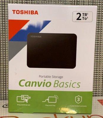 新莊 自取價1700元 TOSHIBA A3 2TB 2T USB3.5 2.5吋行動硬碟 黑靚潮 新北市