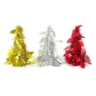 聖誕節DIY佈置辦公室書桌裝飾 楓葉塔樹-金/銀/紅